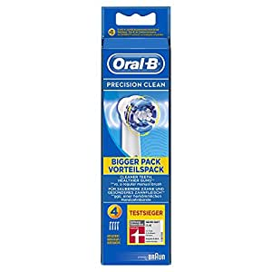 Oral-B PrecisionClean Electric Toothbrush Replacement Heads Powered by Braun - Pack of 4