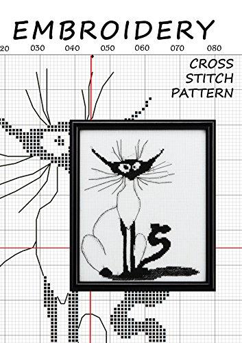 Cross-stitch pattern collection cats halloween Counted cross stitching for beginners Needlecrafts stitchX hand embroidery Stitchery motif Needlework canvas ... minimalist line art (English - Halloween-stickerei-ornamenten