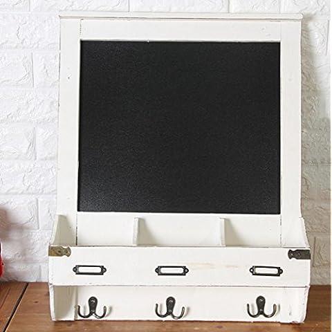 New day-Estanterías de múltiples funciones de la caja del metro de la tabla del estante del montaje de la pared en el hogar rural que adornan el tablero de mensaje los 47 * 59 * 9.5cm , white ,