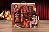 Feuerzangentasse Geschenkset Rühmann - Bowle-weihnachtsrot - Wurzelholz-Design