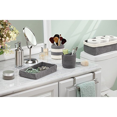 Interdesign 04523eu set di cestini portaoggetti da bagno 2 pz grigio grau ebay - Cestini da bagno ...