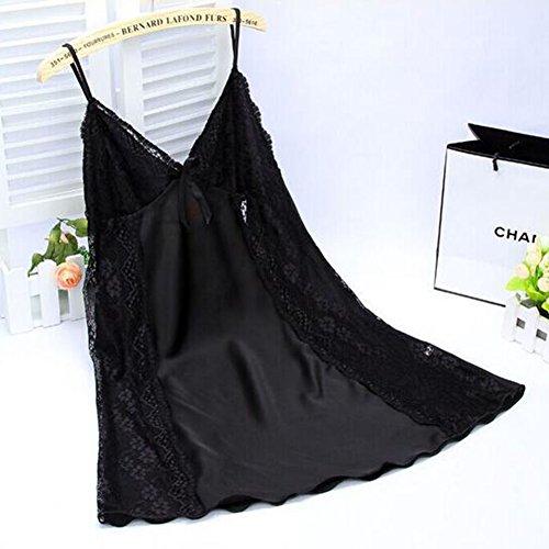 Panties Frauen-reizvoller Wäsche-Babydoll-Spitze-Nachtwäsche-Chemise Nightgown mit G-Schnur (Color : B, Größe : L) - Spitzen-chemise Nachtwäsche
