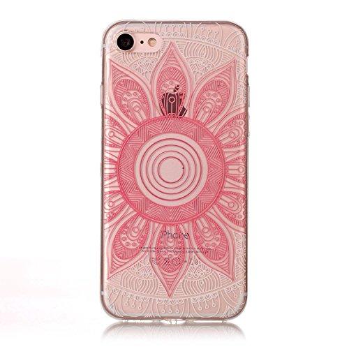 HLZDH Transparente Case pour iPhone 7 TPU Silicone Transparente Ultra Mince Ultra Lége [Anti Scratch][Anti dérapante][AntiChoc] Gel transparent Housse Pare-chocs +Touchez le stylo image-2