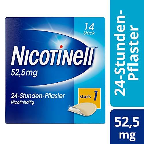 Nicotinell 52,5 mg / 24-Stunden-Nikotinpflaster, 14 St.: Pflasterstärke Stark (1) – Das Nicotinell Nikotinpflaster mit der Steady-Flow Technologie hilft, das Rauchverlangen für 24 Stunden zu lindern