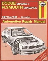 Dodge Shadow & Plymouth Sundance 1987 thru 1991 All models (Haynes Automotive Repair Manual #1726)