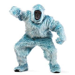 Limit Sport Kostüm Jeti eisblau Plüsch-Overall Gorilla Tierkostüm AFFE hellblau Karneval Fasching (L)