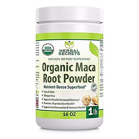 Herbal Secrets Organic Maca Root Powder- 16 oz (1 lb)