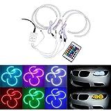 BoomBoost 4Stk RGB Auto Ring Licht Scheinwerfer Xenon Multi-Color Engel Auge Licht