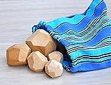 Tumi Ishi 8 Bloques De Madera Bloques De Construcción De Madera Para Niños Juguetes Balanceador de Madera bebe Juego de madera sensorial natural Juguetes educativos