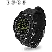 Smart Watch IP67, Hizek Waterproof Bluetooth 4.0 Relojes analógicos digitales Military Men Alarm LED Relojes LED impermeables para iPhone X / 8 / 7Plus / 7, Samsung, Huawei, Xiaomi, LG