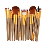 YunYoud 18 stücke Make-Up Pinsel Set werkzeuge Make-up Kulturbeutel Wolle welche make up pinsel sind gut puderpinsel echthaar pinselset schminken utensilien kosmetik set