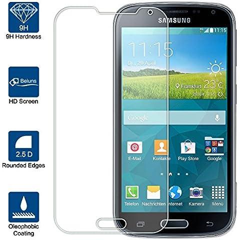 Beiuns vetro temperato protettiva protezione protettore proteggi schermo per Samsung Galaxy K Zoom (S5 Zoom)