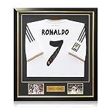 Exclusive Memorabilia Gerahmte Cristiano Ronaldo Signed Real Madrid Fußball-Shirt