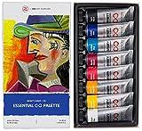 Set de Pinturas Óleo Profesionales Essential Palette de ZenART - con Colores Fundamentales de la Infinity Series, No Tóxicos, Resistente a la Luz, Carga de Alto Pigmento, Tubos de 8 x 45 ml