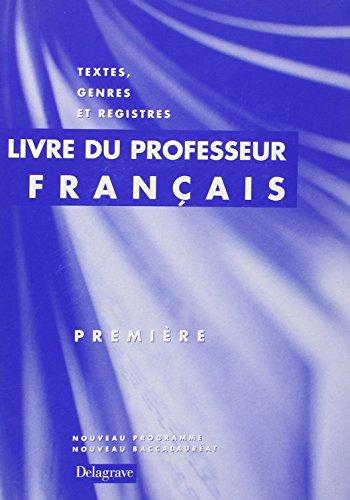 Français premiere livre du professeur