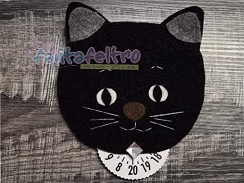 Disco Orario per auto Gatto nero - idea regalo simpatica uomo donna