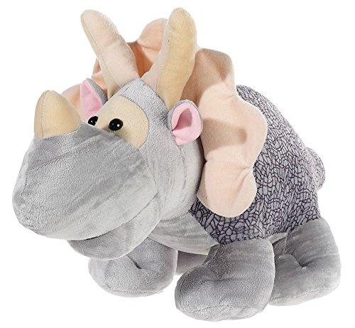 Plüschtier Stofftier Kuscheltier Dinosaurier Triceratops waschbar grau 63cm
