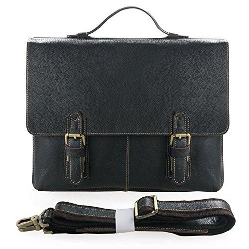 Everdoss Hommes sac à main en cuir sac à bandoulière sac de messager sac d'ordinateur sac de business sac d'affaires