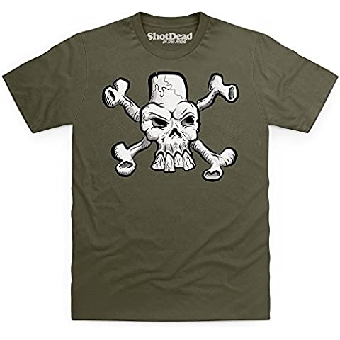 Skull And Crossbones Camiseta, Para hombre