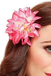 Smiffys 52017 Tropical Hawaiian - Pinza para el pelo, diseño de flores, color rosa