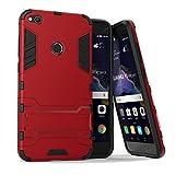 MaxKu Huawei P8 lite Hülle, Safe-Grip Outdoor Case Schutzhülle Kickstand 2in1 Hülle für Huawei P8 lite. Rot