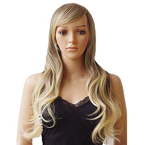 S-NOILITE® Fashion Frauen Lang Gelockt Full Head Perücken Cosplay Kostüm Party Tägliche Fancy Kleid 69,8cm grau bis (Sexy Kostüme Gruppe)