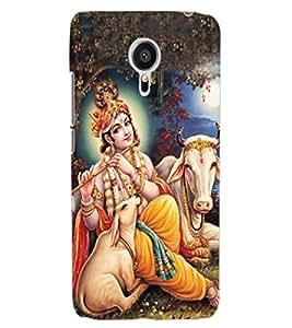 ColourCraft Lord Krishna Design Back Case Cover for MEIZU MX5
