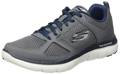 Skechers Dual Light 52180 Herren Trainingsschuhe, Grau (CCBL), 43 EU