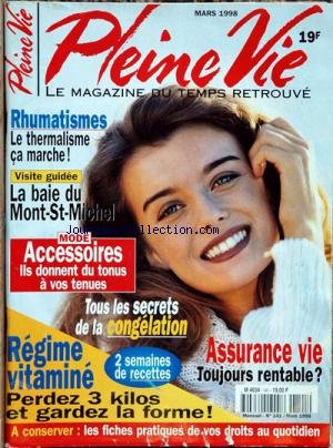 PLEINE VIE [No 141] du 01/03/1998