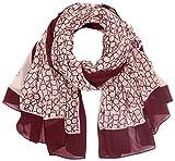 Calvin Klein Damen Schal CK Allover Logo Scarf, Rot (Bordeaux 620), One Size