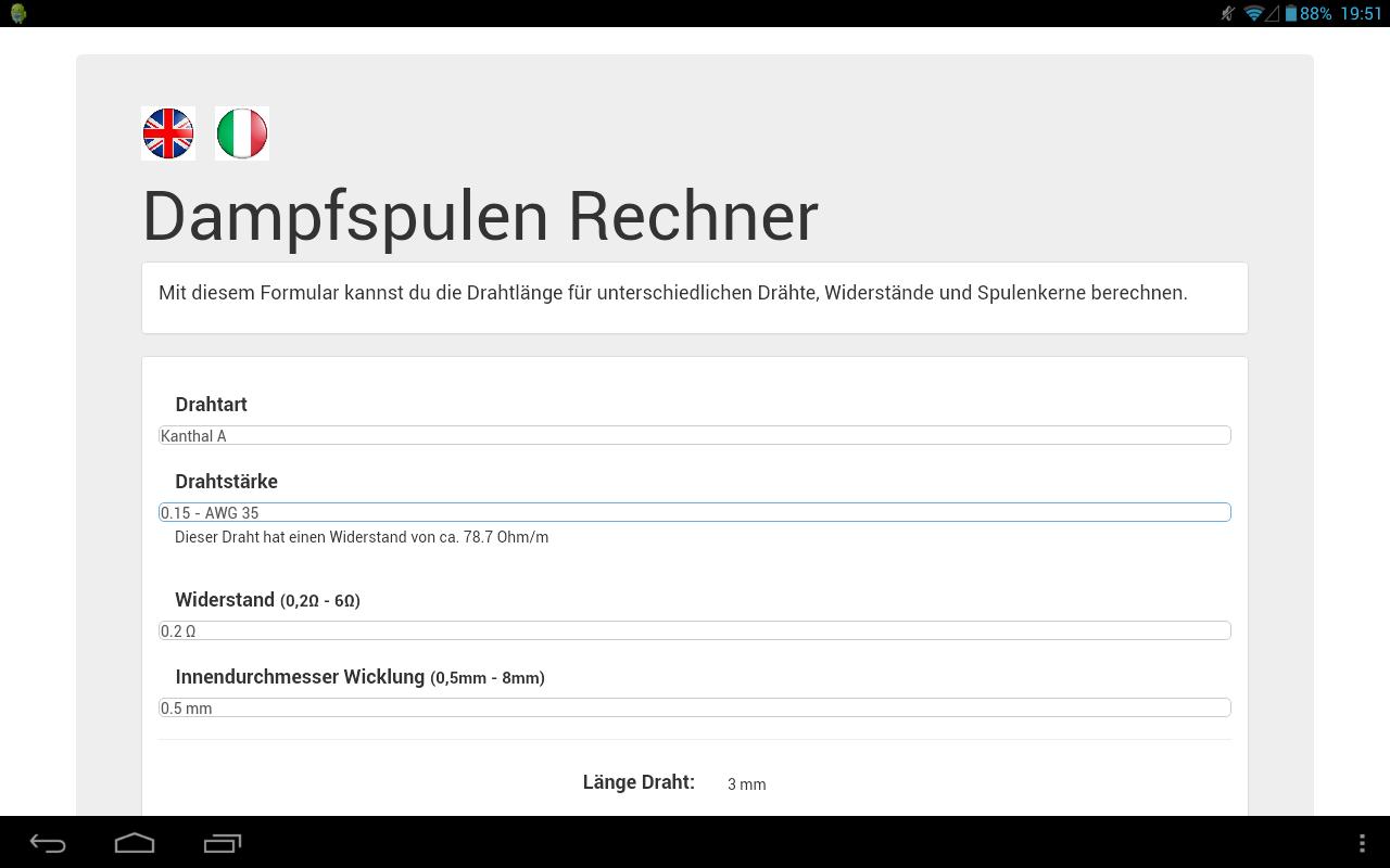 Dampfspulen-Rechner: Amazon.de: Apps für Android