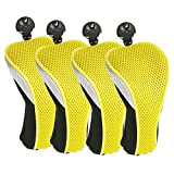 KEKDORY Golf Professional Eisenholzbezug 4er Pack Gelb-Gelb