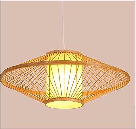 LighSCH Lustres Hôtel Restaurant Le sud-est asiatique Lampe Bambou Le salon Vintage japonais diametre 50cm