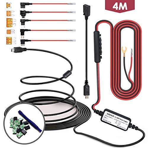 Shishuo Dash Cam Garmin kit-Mini USB cavo 3.5m con LP mini/mini/ATO/MICRO2Fuse, uscita 5V/a per Dash Cam GPS navigatore satellitare con batteria di scarico