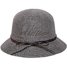 AIEOE Sombrero de Paja para Mujeres Gorro Transpirable con Ala Ancha  Protección Solar Ligero Elegante 1320d34ede5