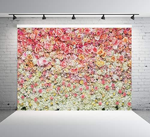 5M Hochzeits Blumen Fotografie Hintergrund Blüten Zeremonie Wand Baby Geburtstags Party Kinder Fotografie Hintergrund Foto Studio 10-938 ()