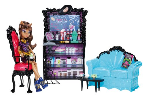 Mattel Monster High X3721 -  Clawdeens Kaputtschino-Ecke, inklusive Puppe und Zubehör