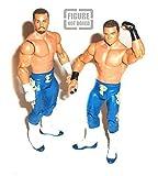 """WWF WWE Wrestling EPICO & PRIMO Equipe Tag 6"""" Séries Mattel figurine RARE [pas en boîte]"""