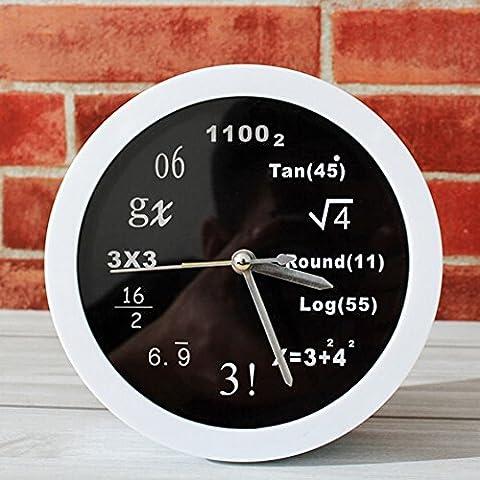 Neuheit-Art- und Weisemathe-Quarz-Wecker - Mathe-Gleichung Stille Schreibtisch-Taktgeber-Unique Wand-Taktgeber für Hauptdekor