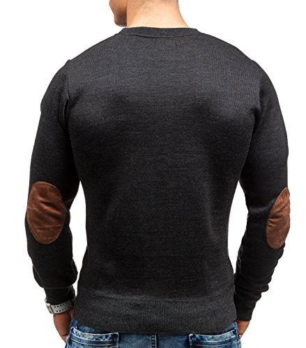 BOLF – Tricot – Pull – U-neck – S-WEST 6033 – Homme Anthracite
