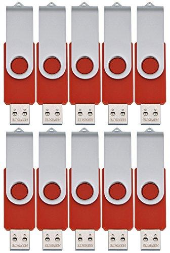 FEBNISCTE Pennetta USB 2.0 da 8GB, 10 pezzi, con Tappo