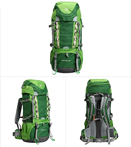 HWLXBB Outdoor Rucksack Sport Bergsteigen Tasche Walking Wandern Rucksack 60L Rucksack Green 60L