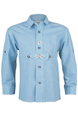 Jungen Isar-Trachten Trachten Kinderhemd hellblau, hellblau, 98