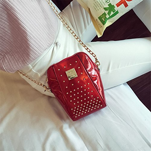 Remeehi, Borsa a tracolla donna, Red (rosso) - ZY00024-1 Red