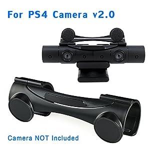 YOUSHARES Abdeckung für PS4 Kameraobjektivschutz & Verdecken Abschirmung für Playstation 4 Kamera v2.0 Schwarz