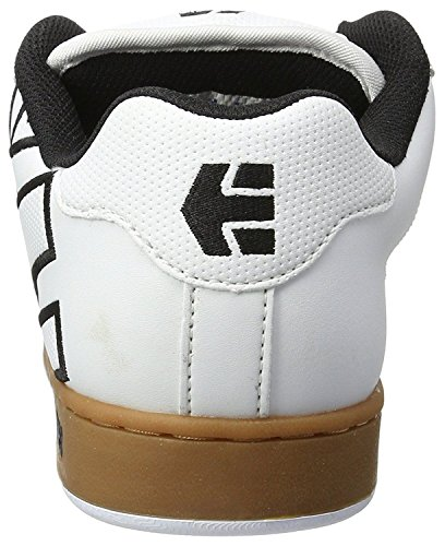 Etnies Fader White Gum Mens Leather Skate Trainers Shoes-12