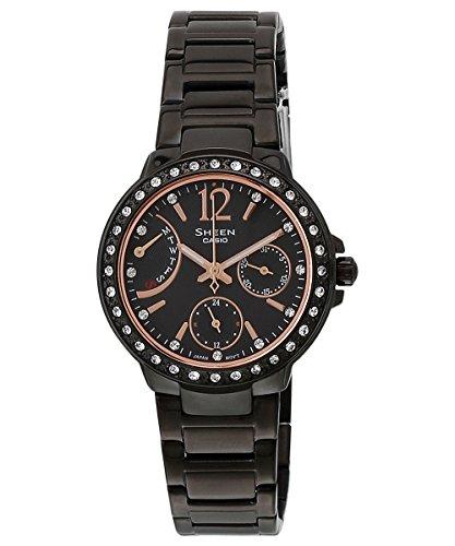 Casio Sheen Multi Fuction Analog Black Dial Women's Watch - SHE-3805B-1AUDR(SX134) image
