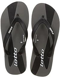 Lotto Men's Grey/Black Hawaii House Slippers