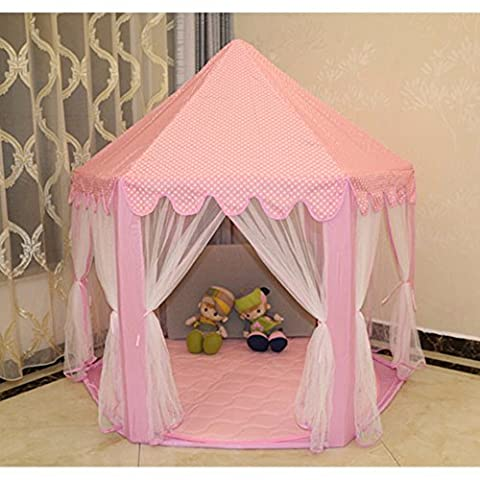 GUMO-Children tent, tent room, large toy house, a large house mosquito, puzzle game,Pink