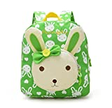 Flyingsky Rabbit Animals Kids Book Backpack Baby Girls School Bag New Arrival (new green)